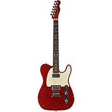 Double TV Jones Relic Telecaster Electric Guitar Red Sparkle