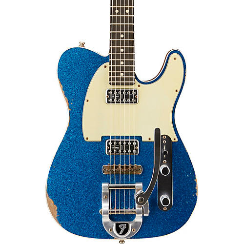 Fender Custom Shop Double TV Jones Relic Telecaster with Bigsby Electric Guitar-thumbnail