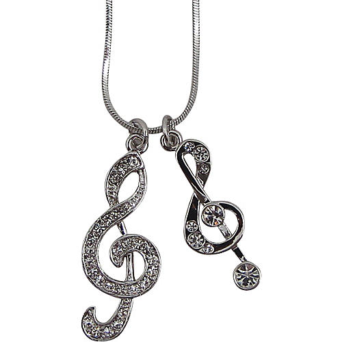 AIM Double Treble Clef Necklace