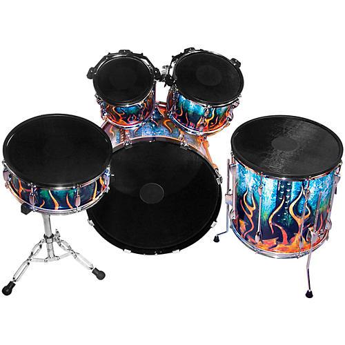 pintech double zone acoustic to electronic drum conversion kit musician 39 s friend. Black Bedroom Furniture Sets. Home Design Ideas