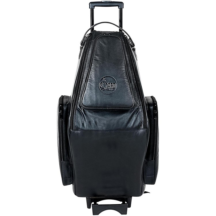 GardDoubler's Tenor and Soprano Saxophone Wheelie Bag125-WBFLK BlackUltra Leather