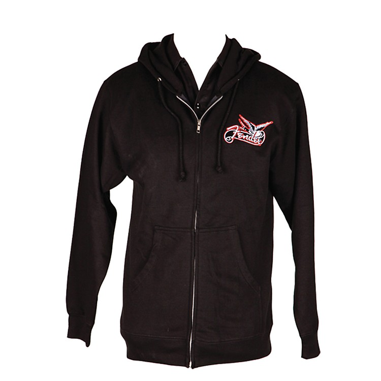 Fender Dove Zip-up Hoodie Black Extra Extra Large