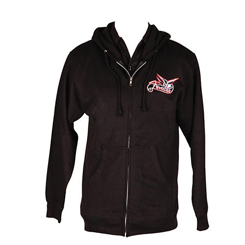 Fender Dove Zip-up Hoodie Black Extra Large