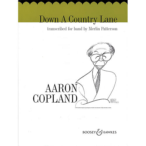Boosey and Hawkes Down a Country Lane Concert Band Composed by Aaron Copland Arranged by Merlin Patterson-thumbnail