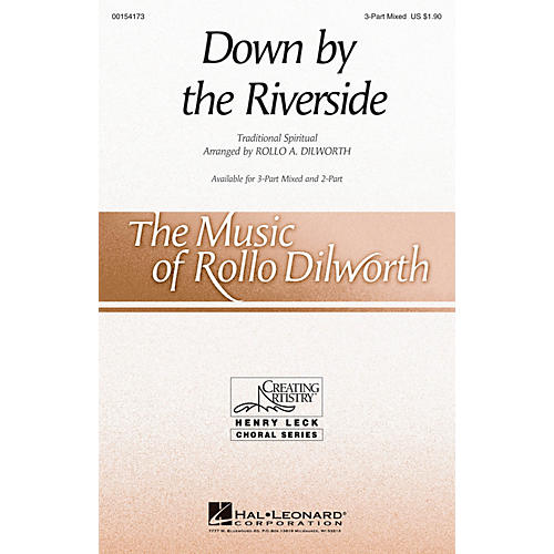 Hal Leonard Down by the Riverside 3-Part Mixed arranged by Rollo Dilworth-thumbnail