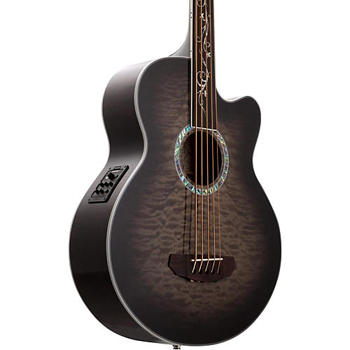 michael kelly dragonfly 5 string fretless acoustic electric bass smoke burst musician 39 s friend. Black Bedroom Furniture Sets. Home Design Ideas