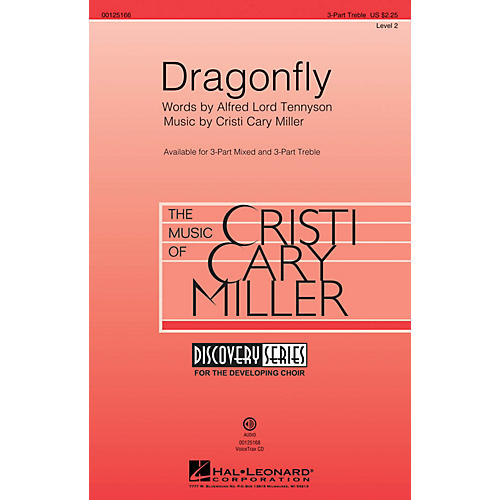 Hal Leonard Dragonfly (Discovery Level 2) 3 Part Treble composed by Cristi Cary Miller