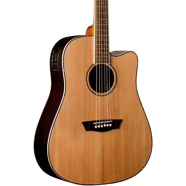WashburnDreadnaught Acoustic-Electric Solid Top Guitar