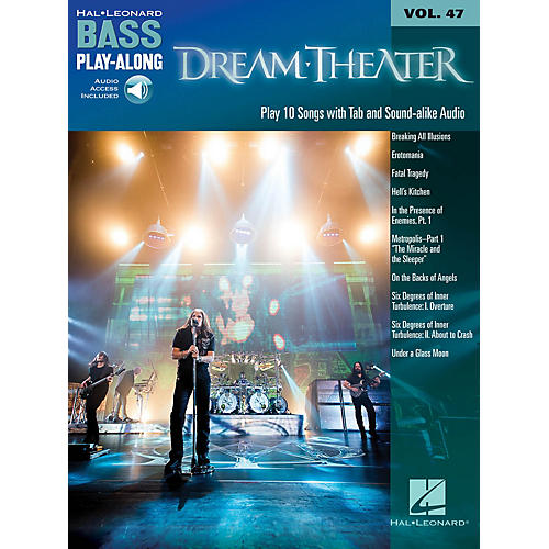 Hal Leonard Dream Theater (Bass Play-Along Volume 47 Book/Online Audio) Bass Play-Along Series Softcover Audio Online-thumbnail
