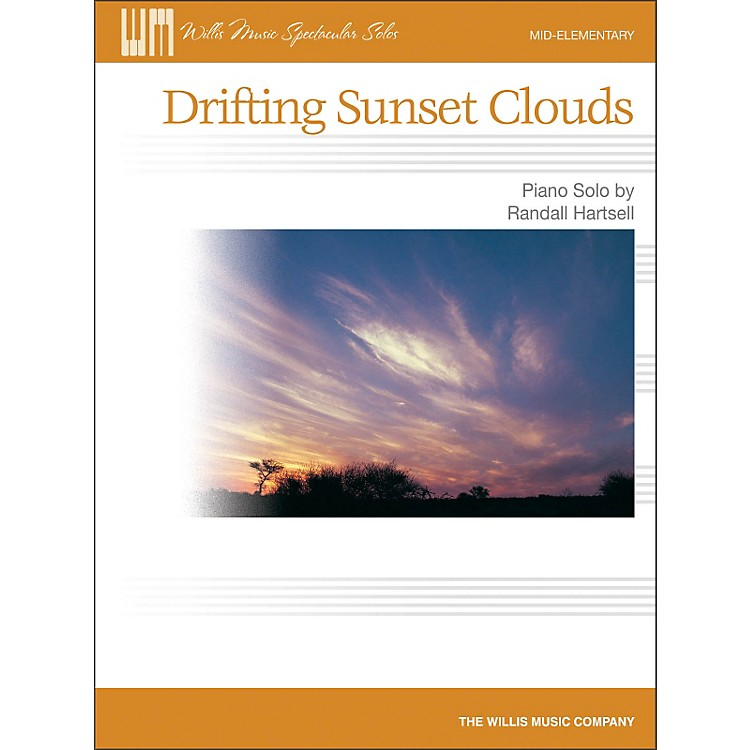 Willis Music Drifting Sunset Clouds - Later Elementary Piano Solo Sheet