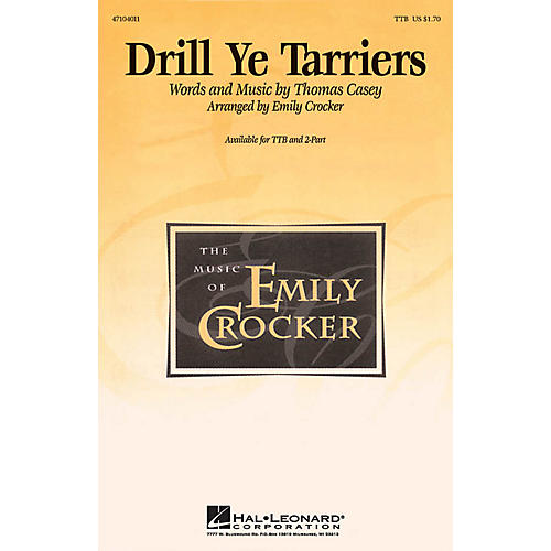Hal Leonard Drill Ye Tarriers TTB arranged by Emily Crocker-thumbnail