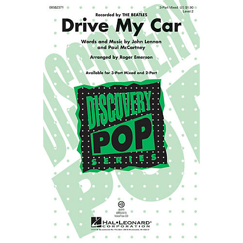 Hal Leonard Drive My Car (Discovery Level 2) 3-Part Mixed by The Beatles arranged by Roger Emerson-thumbnail