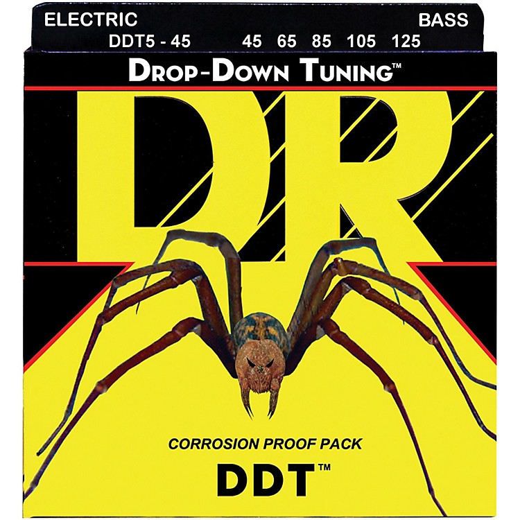 DR Strings Drop-Down Tuning 5-String Medium Bass Strings