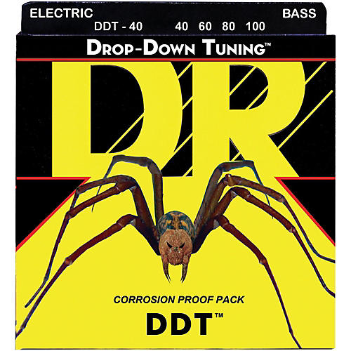 DR Strings Drop Down Tuning Lite 4-String Bass Strings (40-100)-thumbnail