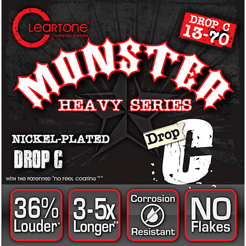 Cleartone Drop Tune Electric Guitar Strings Drop C (13-70) NPS