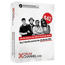 The Drum Channel Drum Channel for Drummers 3 Month Subscription with Extra Month Free!