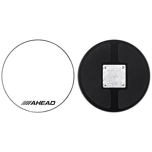 Ahead Drum Corp Practice Pad with Snare Sound White Hard Surface 10 in.
