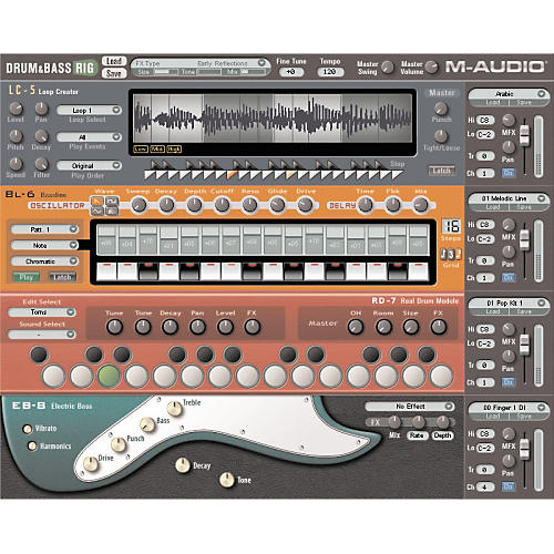 M-Audio Drum and Bass Rig Virtual Drums and Bass Rack
