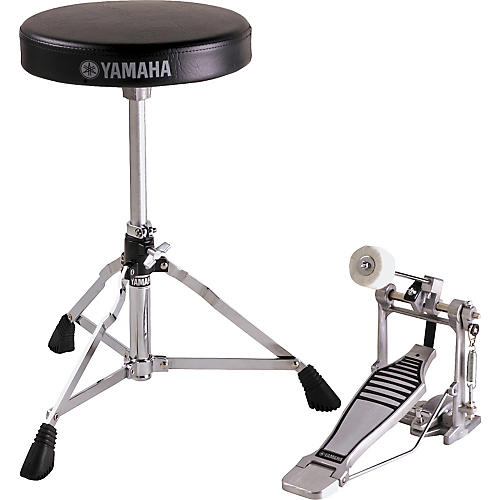 Yamaha Drummer's Bass Drum Pedal and Throne Package-thumbnail