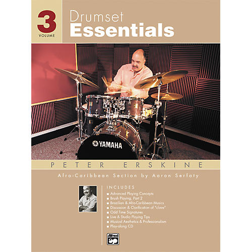 Alfred Drumset Essentials Volume 3 (Book/CD)-thumbnail