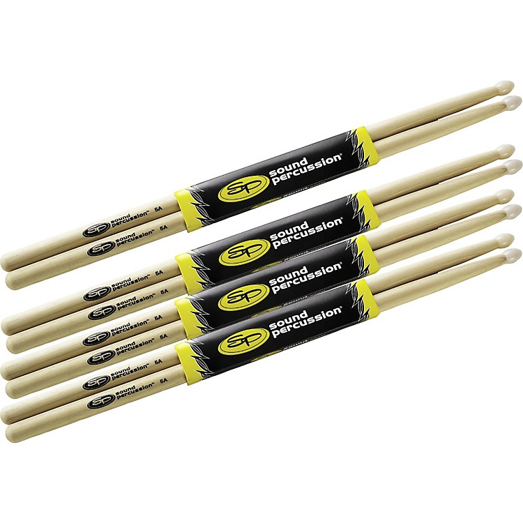 Sound Percussion Labs Drumsticks Buy 3 Get 1 Free, 5A Nylon Tip