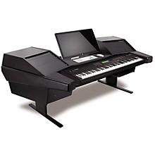 Argosy Dual 15K-803 Keyboard Workstation Black Powder Coated Trim Panels