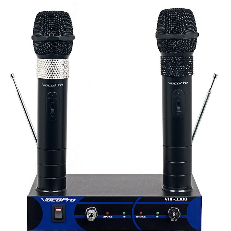 VocoPro Dual Channel VHF Wireless Microphone Set Channel 4