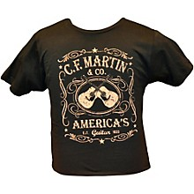 Martin Dual Guitars Vintage T-Shirt Black Large