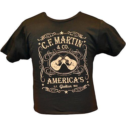 Martin Dual Guitars Vintage T-Shirt Black Large