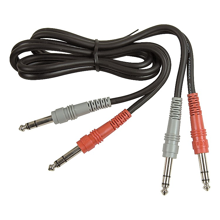 Hosa Dual TRS - TRS Patch Cable  3.3 Foot