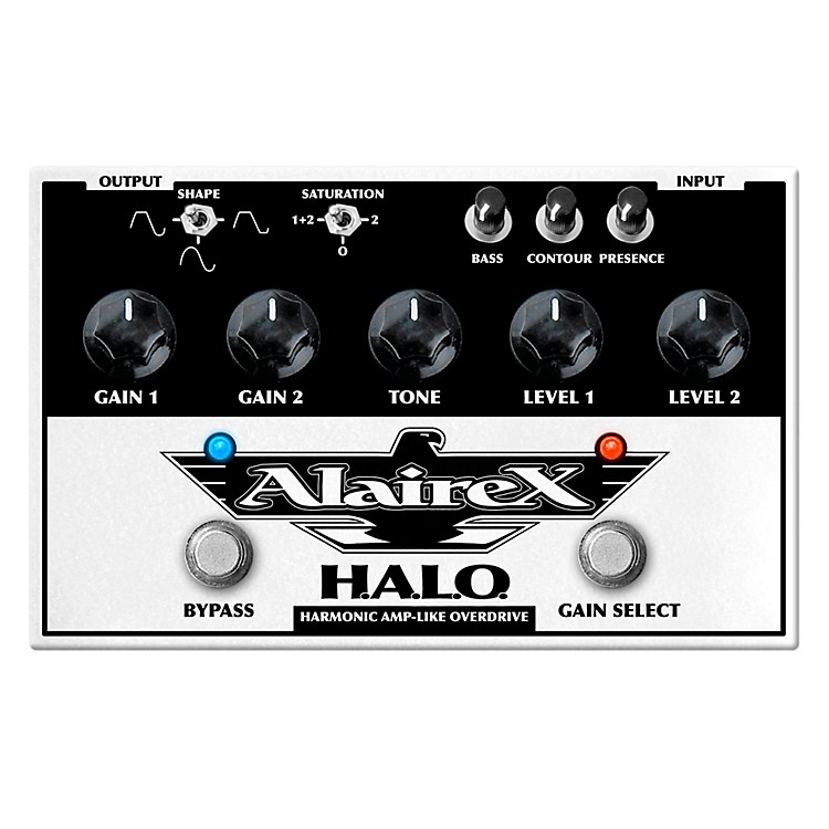 Alairex Dual channel H.A.L.O. Overdrive Guitar Effects Pedal