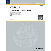 Schott Music Due Sonate Schott Series Composed by Arcangelo Corelli Arranged by Hermann Roth