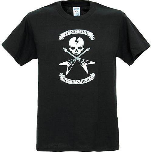 Full On Clothing Dueling V Guitars T-Shirt Large Black
