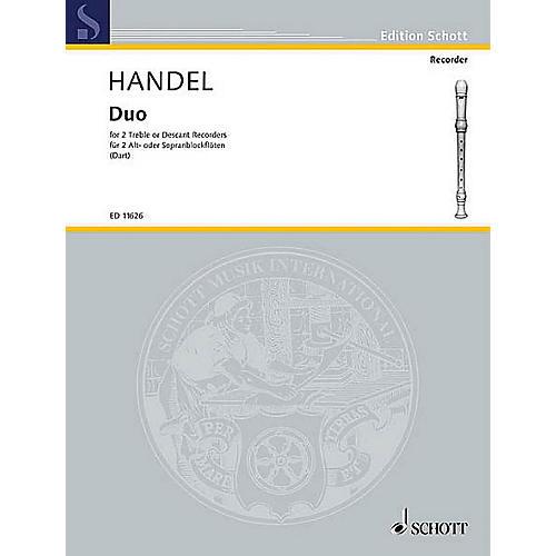 Schott Duet F Major (with Alternatives in C Major) Schott Series by Georg Friedrich Händel