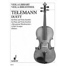 Schott Duet in A Major from Der getreue Musikmeister (Performance Score) Schott Series by Georg Philipp Telemann