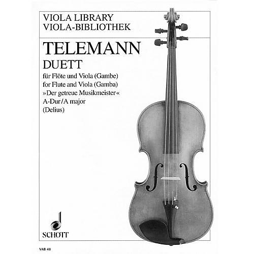 Schott Duet in A Major from Der getreue Musikmeister (Performance Score) Schott Series by Georg Philipp Telemann-thumbnail