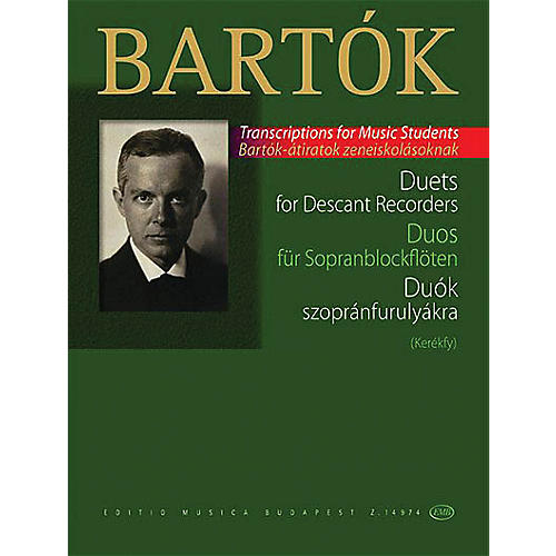 Editio Musica Budapest Duets for Descant Recorders (from the Children's and Female Choruses) EMB Series Softcover by Béla Bartók-thumbnail