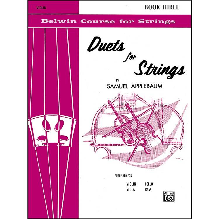 Alfred Duets for Strings Book III Violin