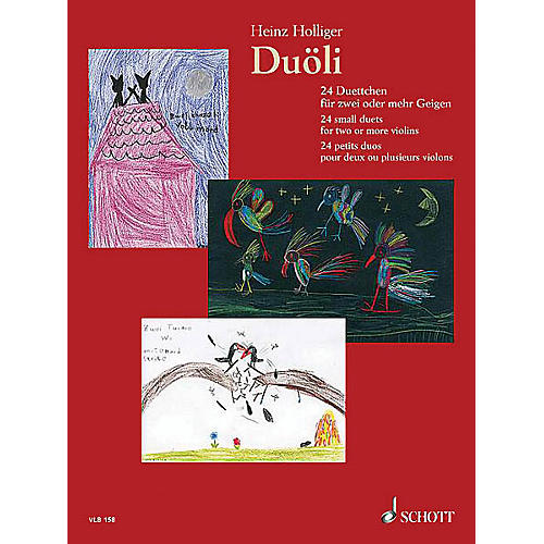 Schott Music Duöli (24 small duets for two or more violins Performance Score) Schott Series Composed by Heinz Holliger-thumbnail