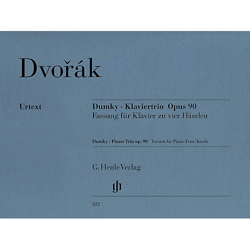 G. Henle Verlag Dumky Piano Trio, Op. 90 (Version for 1 Piano, 4 Hands) Henle Music Folios Series