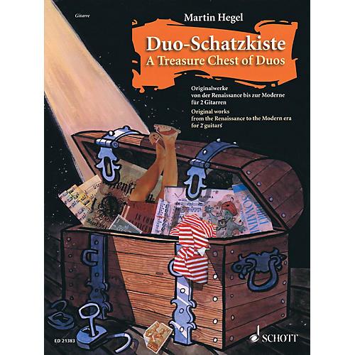 Schott Duo-Schatzkiste A Treasure Chest of Duos (Performance Score for 2 Guitars) Guitar Series Softcover-thumbnail