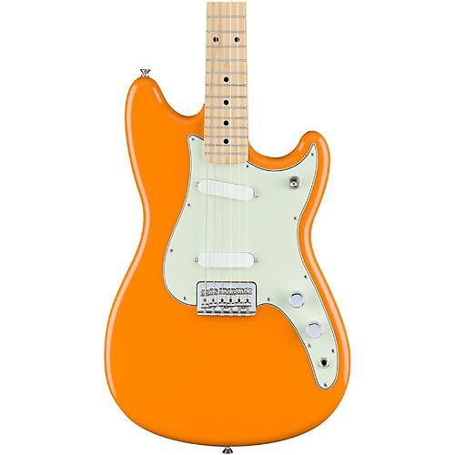 Fender Duo-Sonic Electric Guitar with Maple Fingerboard Capri Orange