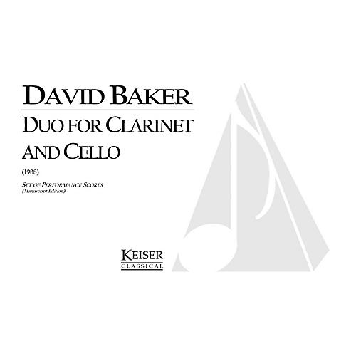Lauren Keiser Music Publishing Duo for Clarinet and Cello LKM Music Series Composed by David Baker-thumbnail