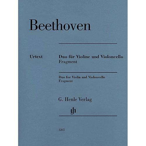 G. Henle Verlag Duo for Violin and Violoncello, Fragment Henle Music Folios Series Softcover by Ludwig van Beethoven-thumbnail