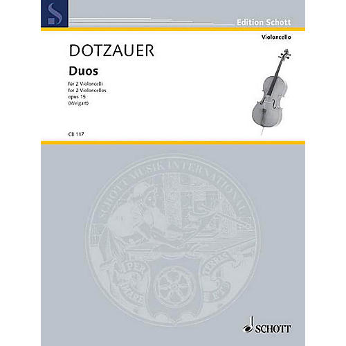 Schott Duos Op. 15 (2 Cellos) Schott Series Composed by Justus Johann Friedrich Dotzauer-thumbnail