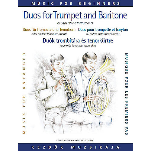 Editio Musica Budapest Duos for Trumpet and Baritone (or Trombone) (for Beginners) EMB Series  by Various-thumbnail