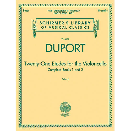 G. Schirmer Duport - 21 Etudes for the Violoncello, Complete Books 1 & 2 String Method Series Softcover