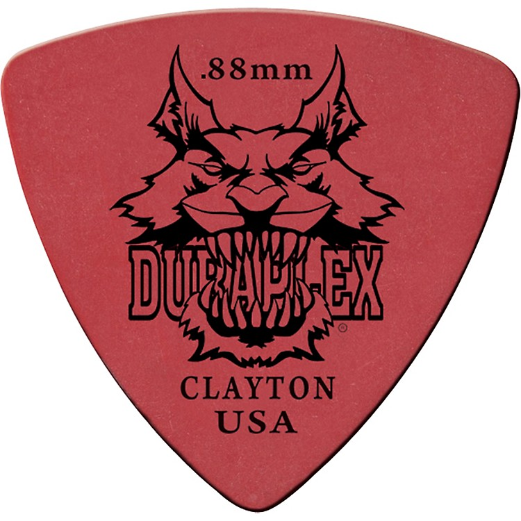 Clayton Duraplex Delrin Rounded Triangle Picks 1 Dozen .60 MM