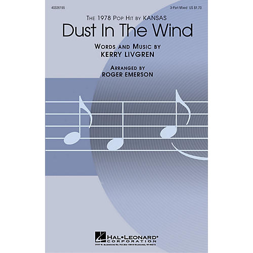 Hal Leonard Dust in the Wind 3-Part Mixed by Kansas arranged by Roger Emerson-thumbnail