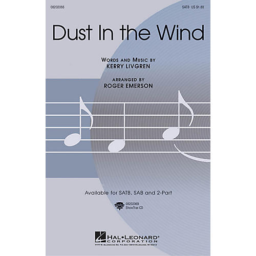 Hal Leonard Dust in the Wind SATB arranged by Roger Emerson-thumbnail